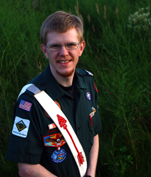 Daniel M. Reck will join the staff of the 22nd World Scout Jamboree in Sweden this summer.